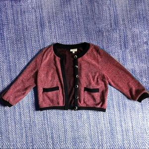 Modcloth Red Glitter Cardigan